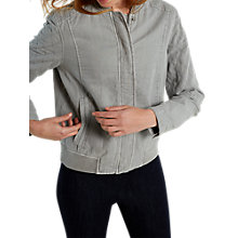 Buy White Stuff Calder Bomber Jacket, Silver Online at johnlewis.com