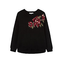 Buy Gerard Darel Luke Floral Feature Jumper, Black/Multi Online at johnlewis.com