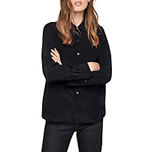 Buy Gerard Darel Brian Silk Blouse, Navy Online at johnlewis.com