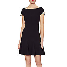 Buy Gina Bacconi Emma Godet Dress, Black Online at johnlewis.com