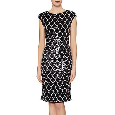 Gina Bacconi Ariel Scallop Design Sequin Dress