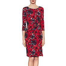 Buy Gina Bacconi Fiona Floral Jersey Dress, Red Online at johnlewis.com