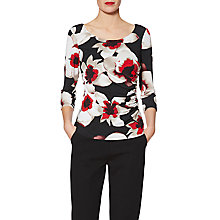 Buy Gina Bacconi Sasha Wild Iris Print Top, Red/Multi Online at johnlewis.com