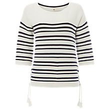 Buy White Stuff Cliff Stripe Jumper, Pearl White Online at johnlewis.com