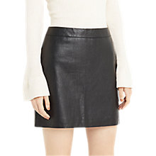Buy Oasis Faux Leather Croc Mini Skirt, Black Online at johnlewis.com