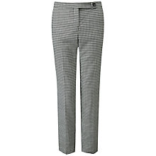 Buy Pure Collection Dogtooth Tailored Trousers, Black Online at johnlewis.com