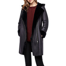 Buy Gerard Darel Gardenia Leather Sheepskin Coat, Marine Online at johnlewis.com