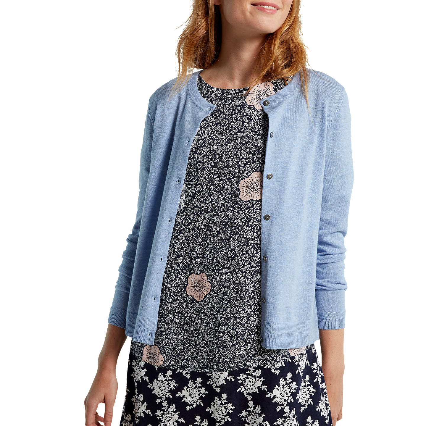 BuyWhite Stuff Forest Crew Cardigan, Capri Blue, 6 Online at johnlewis.com