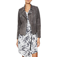 Buy Mint Velvet Multi Zip Biker Jacket, Dark Grey Online at johnlewis.com