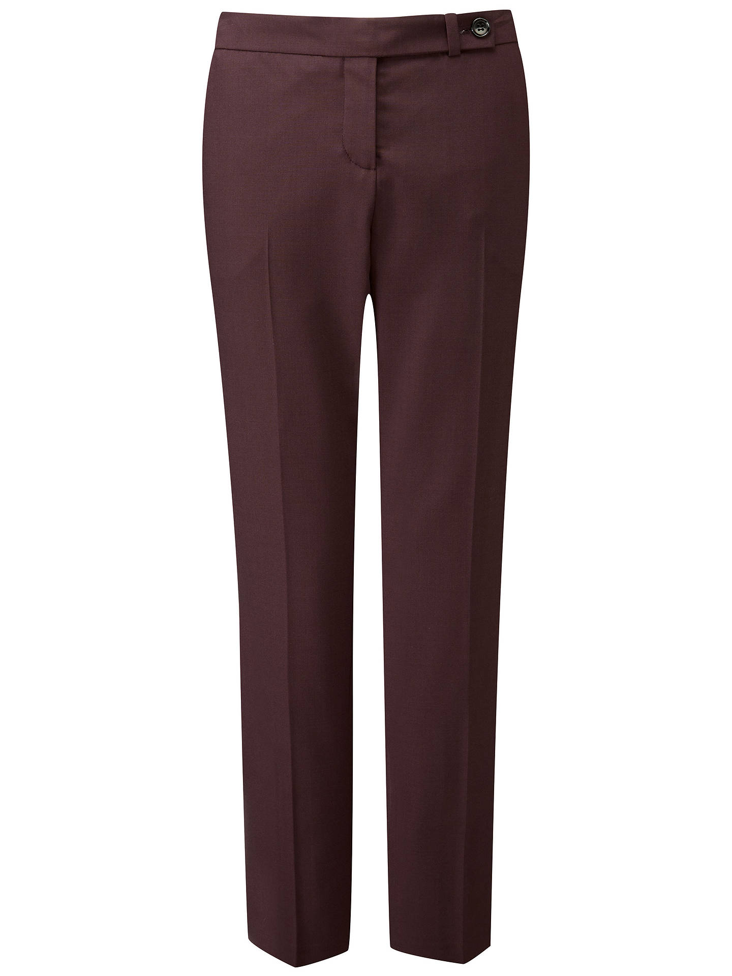 Buy Pure Collection Tailored Ankle Length Trousers, Fig, 8 Online at johnlewis.com