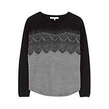 Buy Gerard Darel Louxor Wool Blend Jumper, Grey Online at johnlewis.com