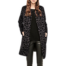 Buy Gerard Darel Garnier Leopard Print Coat, Grey/Black Online at johnlewis.com