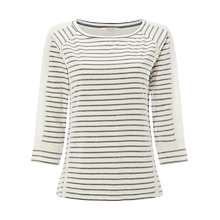 Buy White Stuff Lace Stripe Jersey T-Shirt Online at johnlewis.com