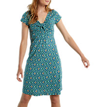 Buy White Stuff Teardrop Tile Jersey Dress, Eucalyptus Green Print Online at johnlewis.com