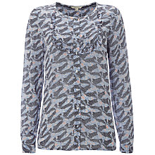 Buy White Stuff Trixie Frill Shirt, Blue Online at johnlewis.com