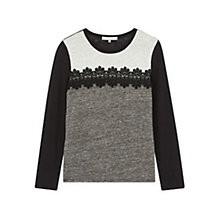 Buy Gerard Darel Univers Linen T-Shirt, Grey Online at johnlewis.com