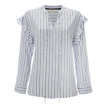 Buy White Stuff Serena Stripe Shirt, White Online at johnlewis.com