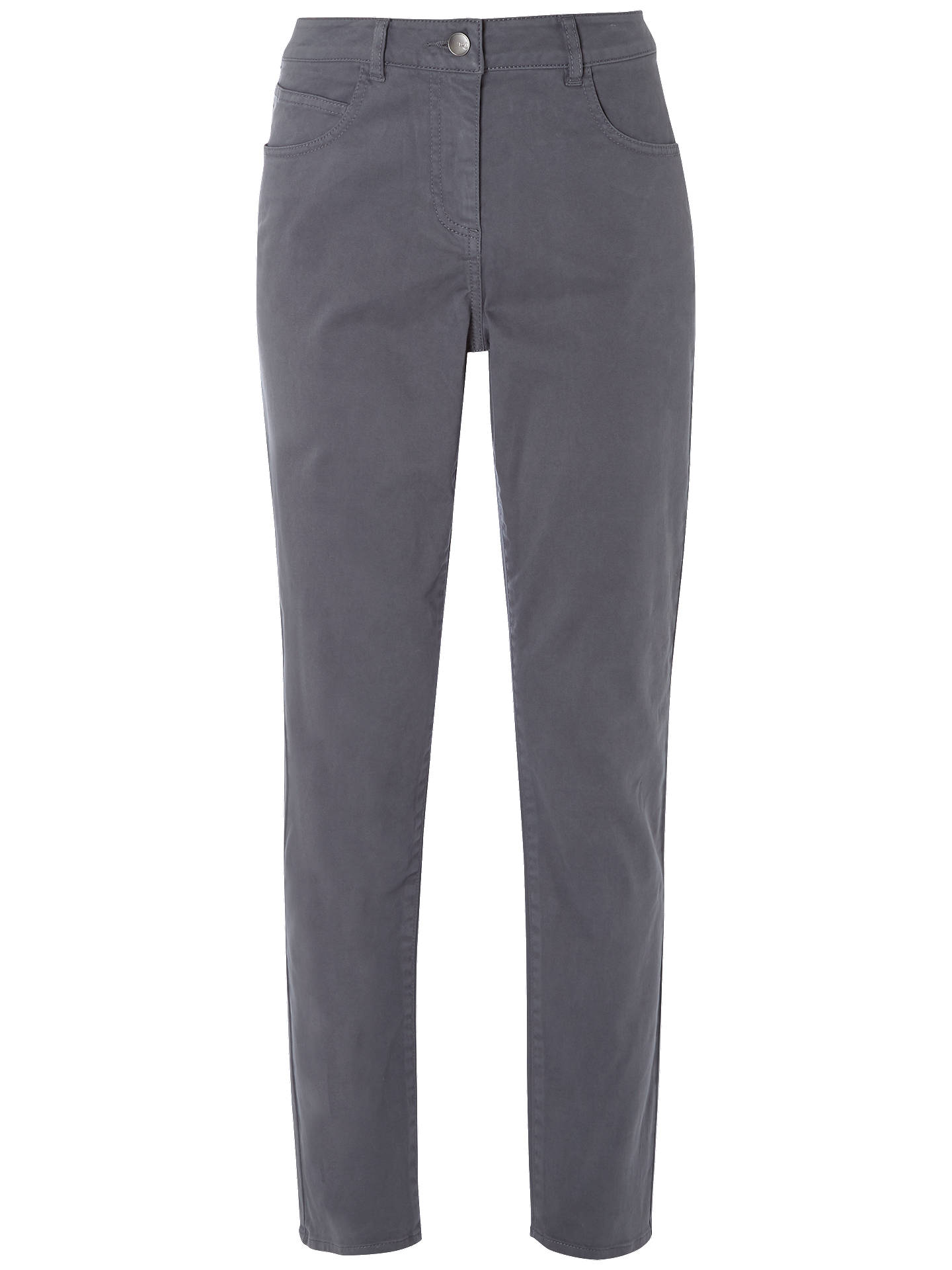 BuyWhite Stuff Oak Peached Slim Trousers, Charcoal, 6 Online at johnlewis.com