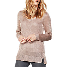 Buy Mint Velvet Metallic Tape Yarn Knit Jumper, Pink Blossom Online at johnlewis.com