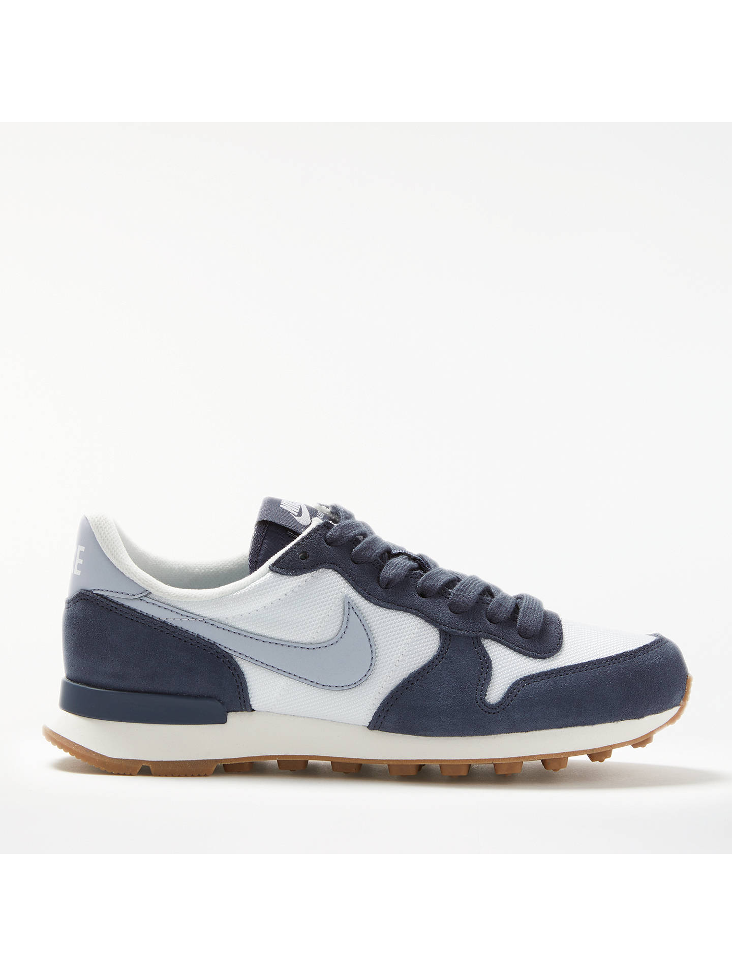 premium selection e721d 899d3 Buy Nike Internationalist Women s Trainers, White Grey Blue, 4 Online at  johnlewis ...