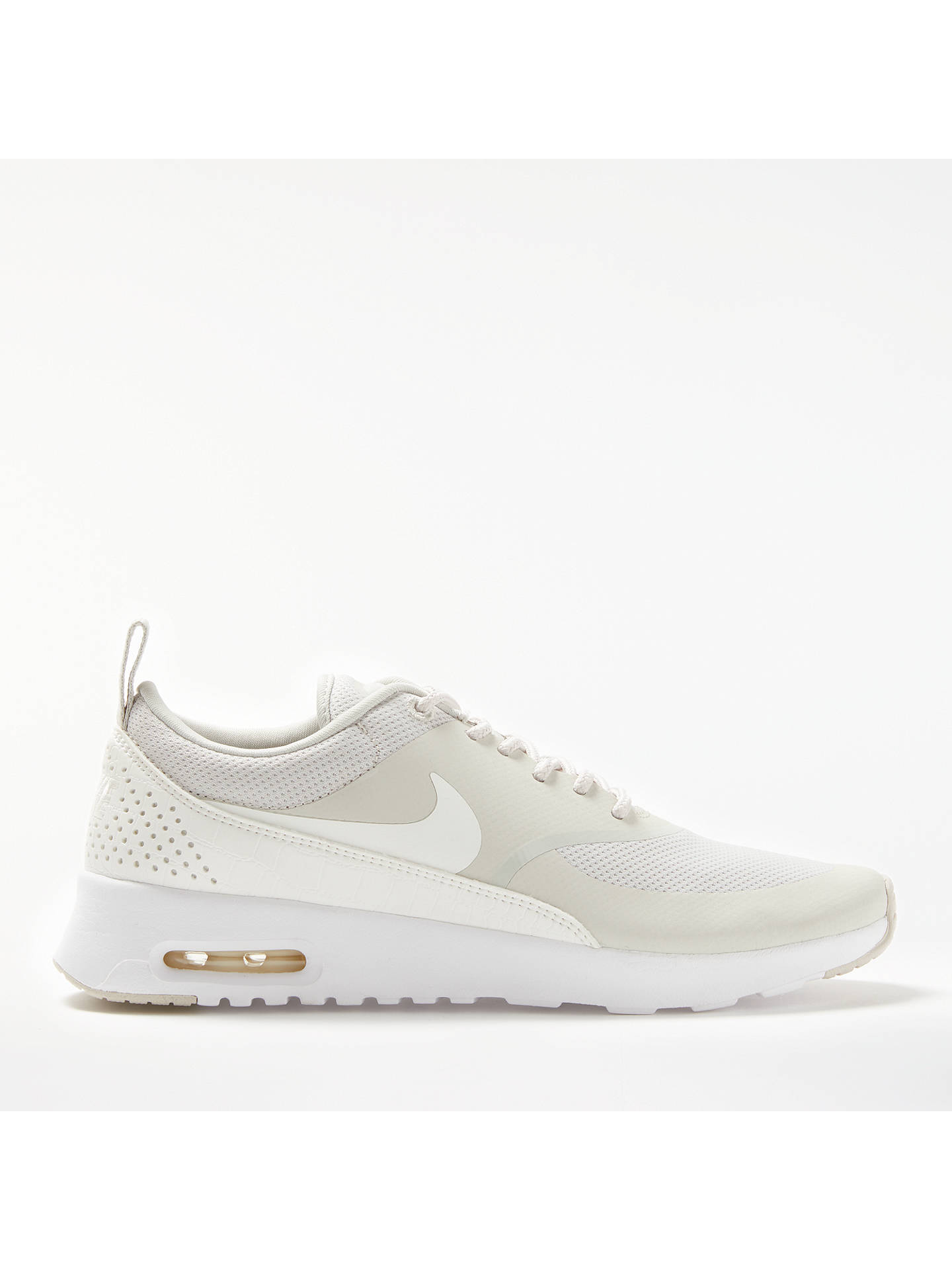 6059d0a08e Buy Nike Air Max Thea Women's Trainers, Bone, 4 Online at johnlewis. ...