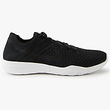 Buy Nike Free TR Flyknit 2 Women's Training Shoes, Black/White Online at johnlewis.com