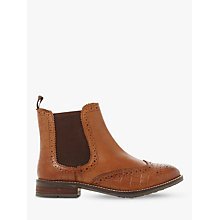Buy Dune Wide Fit Quentons Brogue Chelsea Boots Online at johnlewis.com