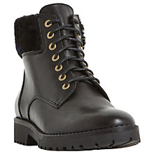 Buy Dune Perrinn Lace Up Ankle Boots, Black Leather Online at johnlewis.com