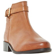 Buy Dune Wide Fit Poppy Ankle Boots, Tan Online at johnlewis.com
