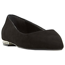 Buy Dune Blackheart Pointed Toe Pumps, Black Online at johnlewis.com