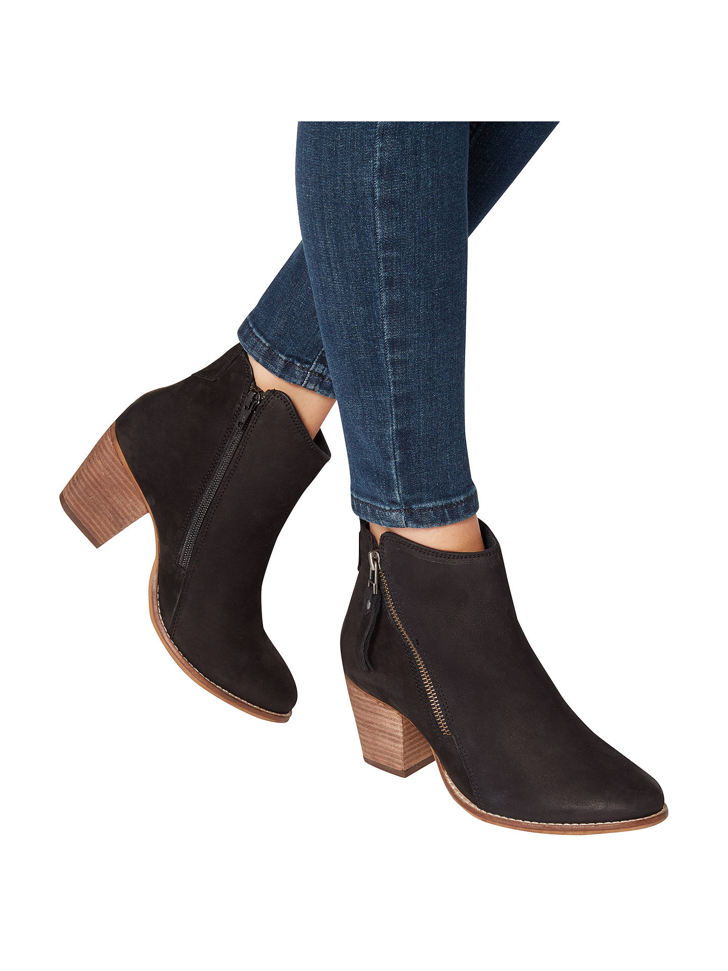 1419949f310 Dune Pontoon Wide Fit Stacked Heel Ankle Boots at John Lewis   Partners