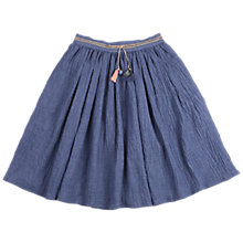 Buy Outside the Lines Girls' Crushed Midi Skirt, Indigo Online at johnlewis.com