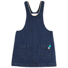 Buy Outside the Lines Girls' Dungaree Dress, Indigo Online at johnlewis.com