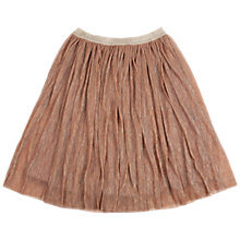 Buy Outside the Lines Girls' Shimmer Plisse Skirt, Rose Gold Online at johnlewis.com