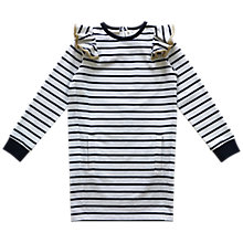 Buy Outside the Lines Girls' Frill Sweat Dress, Navy Online at johnlewis.com