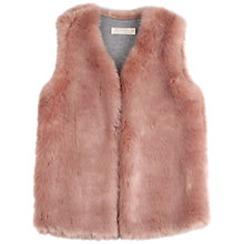 Buy Outside the Lines Girls' Deep Pile Faux Fur Gilet, Rose Online at johnlewis.com