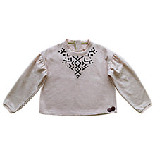 Buy Outside the Lines Girls' Tribal Print Sweatshirt, Blush Online at johnlewis.com