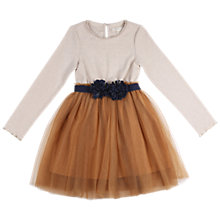 Buy Outside the Lines Girls' Corsage Tutu Dress, Neutral/Gold Online at johnlewis.com