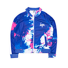 Buy Hype Girls' Splash Track Cropped Jacket, Blue Online at johnlewis.com