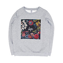 Buy Hype Girls' Floral Box Crew Neck Jumper, Grey Online at johnlewis.com