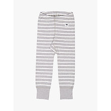 Buy Polarn O. Pyret Children's Stripe Leggings, Grey Online at johnlewis.com