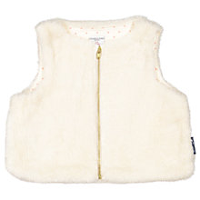 Buy Polarn O. Pyret Children's Fleece Gilet, Cream Online at johnlewis.com