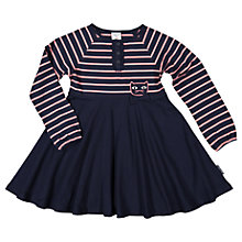 Buy Polarn O. Pyret Girls' Striped Cat Dress, Blue Online at johnlewis.com