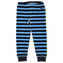 Buy Polarn O. Pyret Children's Velour Stripe Trousers, Blue Online at johnlewis.com