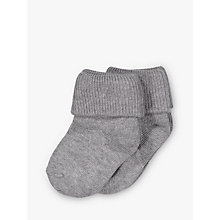 Buy Polarn O. Pyret Baby Stripe Anti-Slip Socks, Grey Online at johnlewis.com
