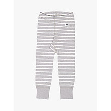 Buy Polarn O. Pyret Baby Stripe Leggings, Grey Online at johnlewis.com