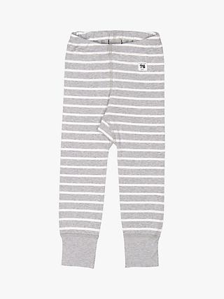 Polarn O. Pyret Baby GOTS Organic Cotton Stripe Leggings, Grey