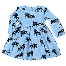 Buy Polarn O. Pyret Children's All-Over Cat Print Dress, Blue Online at johnlewis.com