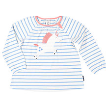 Buy Polarn O. Pyret Children's Unicorn Stripe Top, Blue Online at johnlewis.com