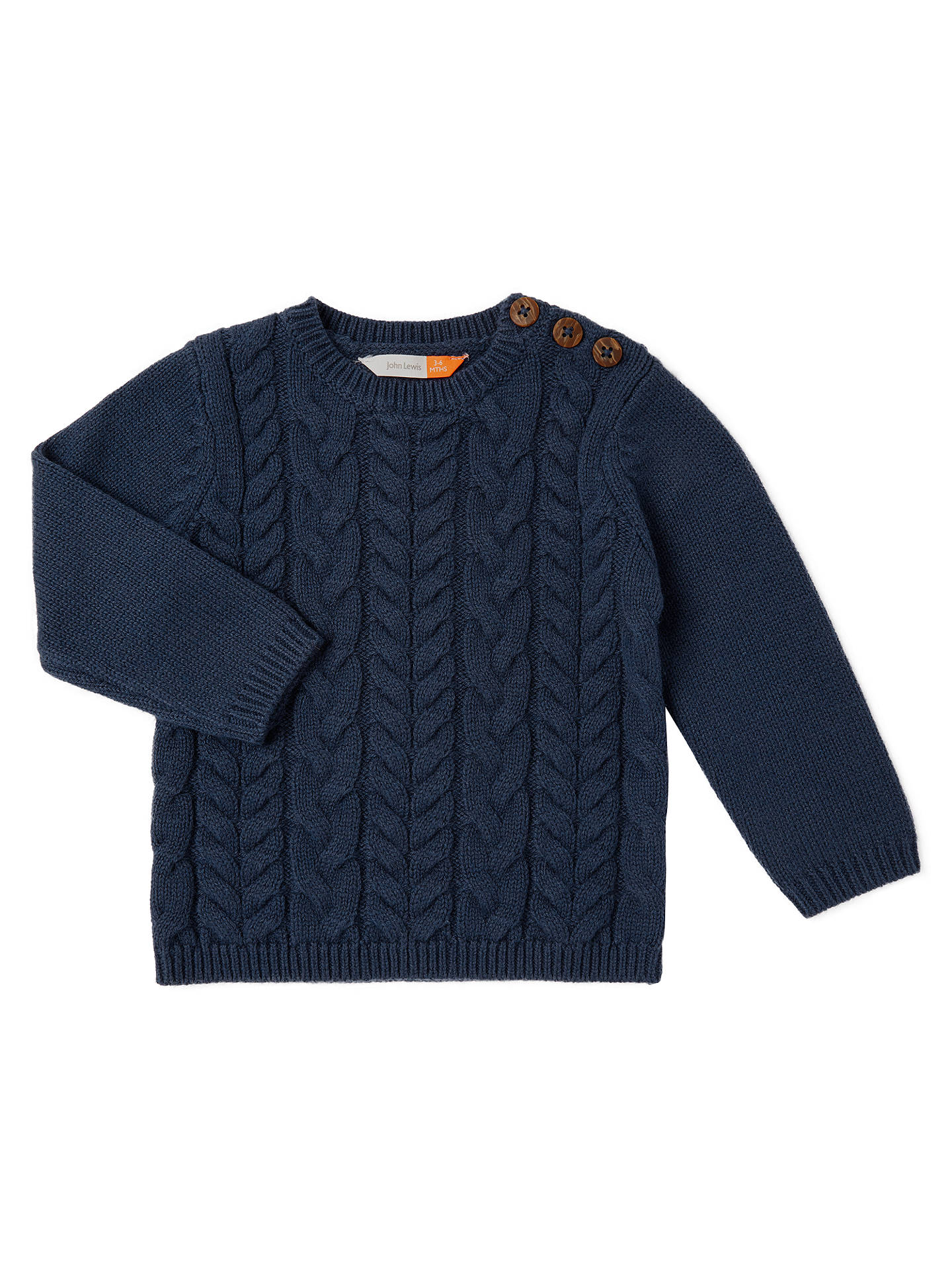 ae9c17bb8dc9 John Lewis Baby Cable Knit Crew Neck Jumper
